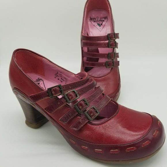 d1a5c1878 John Fluevog Shoes - John Fluevog Red Mary Jane Style Shoes 7.5